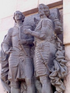 Памятник Петру I и Лефорту в Лефортове