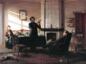 """Н. Ге """"Пущин в Михайловском 1 января 1825 г."""""""