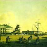 Сенатская площадь в начале XIX в.