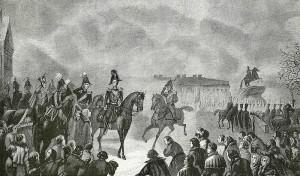Император Николай на Сенатской площади 14 января 1825 г.