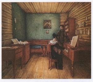 Комната Волконских в Петровском заводе