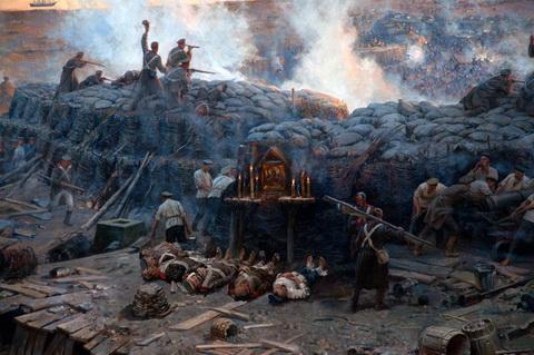 А. Рубо Панорама обороны Севастополя (фрагмент)