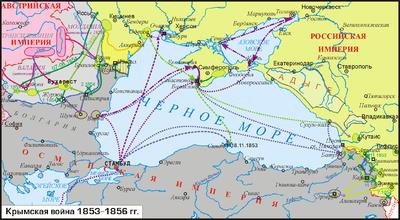 контурная карта крымская война 1853-1856 гдз