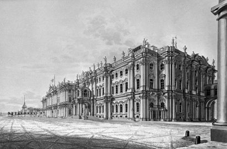 Зимний дворец, гравюра