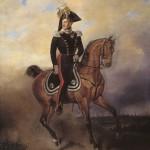 """В. Тимм """"Портрет императора Николая I на коне"""""""