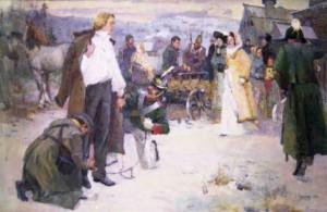 """И.И.  Крившинко """"Декабристы. И в Сибири есть солнце. Приезд жены Н. Муравьева"""""""